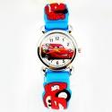 Cars Wristwatch Kids Time Kids Watch, Various Motifs - Silicone Bracelet Light Blue/Colorful