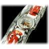 Kids Time Schlumpfine mit bequemem Silikon Armband für Kinder Farbe Rot, Quartz Uhr, Analog