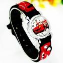 Cars Wristwatch Kids Time Kids Watch, Various Motifs - Silicone Bracelet Black/Colorful