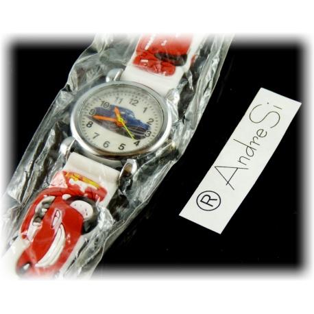 Cars Armbanduhr Kids Time Kinderuhr, verschiedene Motive - Silikon Armband Schwarz/Bunt