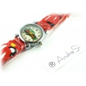 Cars Wristwatch Kids Time Kids Watch, Various Motifs - Silicone Bracelet Red/Colorful