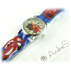 Cars Wristwatch Kids Time Kids Watch, Various Motifs - Silicone Bracelet Blue/Colorful