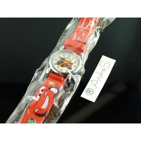 Cars Armbanduhr Kids Time Kinderuhr, verschiedene Motive - Silikon Armband Hellblau/Bunt
