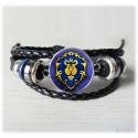 stylisches geflochtenes Armband mit Logo der Horde, Allianz oder Heartstone