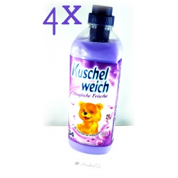 4er Pack Kuschelweich Weichspüler 990ml Magische Frische