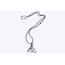 Halskette - Heiligtümer des Todes - Platinum hartverdelter Anhänger mit Kugelkette platiniert