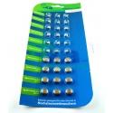 tka 1.5V button cells 30-spare package, AG1-LR621 / AG3-LR41 / AG4-LR626 / AG10-LR1130 / AG12-LR43 / AG13-LR44