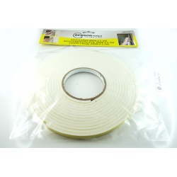 Draught seal self-adhesive 5.5m x 9x5mm white seal window seal sealing tape