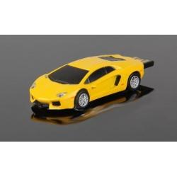 Lamborghini Aventador gelb / schwarz 8 GB Auto-USB-Stick Fash-Drive in Plastebox