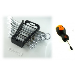 Ring wrench mullet set set of 8 piece mule wrench key BENSON incl. Pozi screwdriver