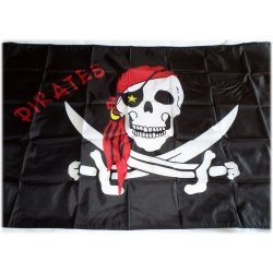 Pirates Flag Flag Skull Skull Pirate 90 x 150 cm - Weatherproof Quality