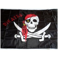 Pirates Flagge Fahne Skull Totenkopf Pirat 90 x 150 cm - wetterfeste Qualität