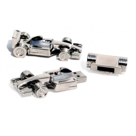 Formel 1 Rennwagen usb stick chrome USB Speicher Stick 8 GB - USB 2.0 - silber