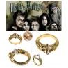 Hogwarts Ring Gryffindor, Slytherin, Ravenclaw oder Hufflepuff mit edlen facettenreichen Kristallen