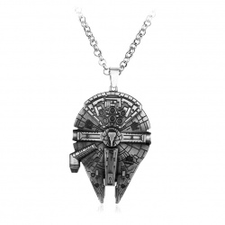 Millennium Falcon / Falcon Star War's HQ pendant with stainless steel chain