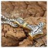 Thor's Thors Hammer Anhänger Mjölnir Wikinger Ank Halskette Herren LARP Vikings