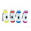 """2 piece LED flashlight Hello """"Kitty"""" cat in 4 colors with loop strap"""