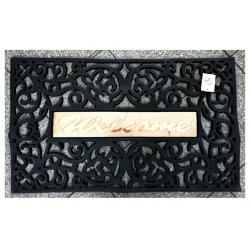 Welcome Gummimatte Eingangsmatte 45x75cm schwarz