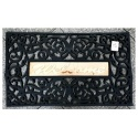 Welcome rubber mat entrance mat 45x75cm black