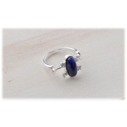 Elena Gilbert Daylight / Daylight Ring with Lapis Lazuli - Vampire Gothic Fashion