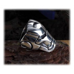 Iron Man Ring Chrome Finish schattiert rauh Size 10 19,8mm