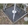 Bodenbefestigungset mit Einschlaghülsen, Stangen, Winkeln, Muttern
