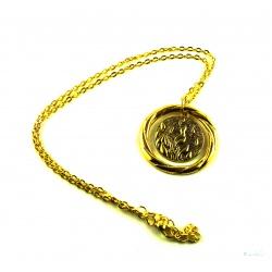 """Hungerspiel Anhänger """"On Fire"""" mit Halskette 18k hartvergoldet Tribute von Panem"""