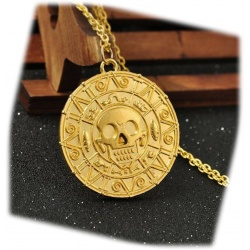 Curse of the Caribbean - Treasure Coin Pendant Aztec HQ Elizabeth Swann bronze/gold