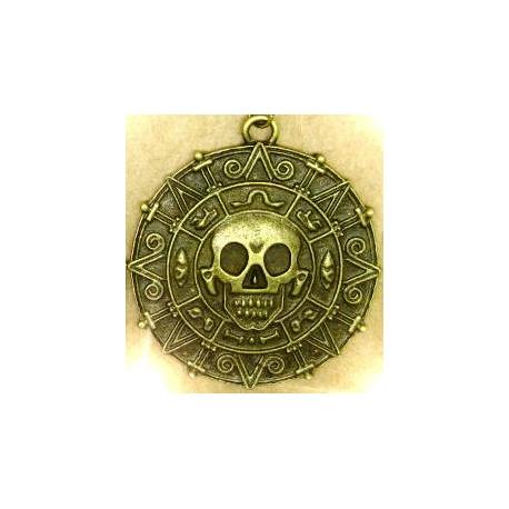Fluch der Karibik - Schatz-Münze Anhänger Azteken HQ Elizabeth Swann bronze/gold