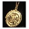 Fluch der Karibik - Anhänger Azteken Schatz-Münze Elizabeth Swann - vergoldet