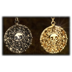 Curse of the Caribbean - Pendant Aztec Treasure Coin Elizabeth Swann - Gilded