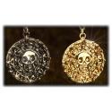 Curse of the Caribbean - Pendant Aztec Treasure Coin Elizabeth Swann - Gilded