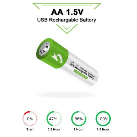 1.5V AA Akku li-ion Battery 2600mWh 100% capacität li-polymer per USB aufladbar