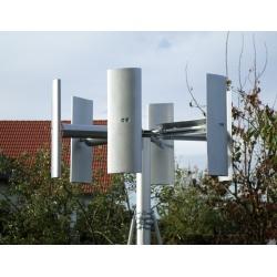 Windrad DOMO 1000 (weiß/silbern) versch.Kombinationen mit Mast & Wechselrichter