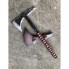 Hand-forged Viking axe, tomahawk with carbon steel leather sheath