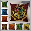 Kissenbezug 45x45 Hogwarts Gryffindor Slytherin Hufflepuff Ravenclaw H.Potter