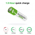 1.5V AAA Battery li-ion Battery 550mWh 100% capacität li-polymer rechargeable via USB