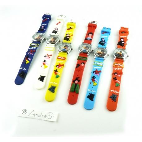 Kids Time Kinder HP Armbanduhren Harry P., Hermine, Ron mit Silikon Armband,AndreSi