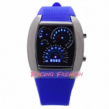 Racing Fashion LED Chrome Digital Uhr
