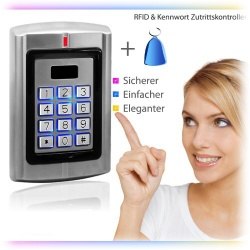 Contactless RFID code lock, door opener, open with RFID transponder or (and) password, 125khz, code keyboard