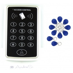 Non-contact OUTDOOR RFID door opener YOUHE incl. bell button + 10pc transponder