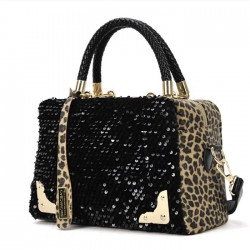 Women's Handbag Leopard Flitter Shoulder Bag