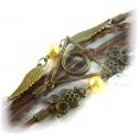 Bracelet Deathly Hallows - with Schnatz (Snitch) and distinctive barn owls