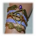 Armband Heiligtümer des Todes - mit Schnatz (Snitch) und markanten Schleiereulen