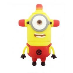 8GB USB Stick lustiges M?nnchen (Alarm Lampen Einauge Rot) mit LED