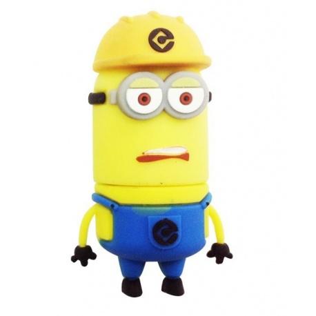 8GB USB Stick lustiges M?nnchen (Bauarbeiter mit gelbem Helm Zweiauge) mit LED