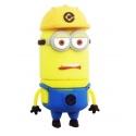 8GB USB Stick lustiges Männchen (Bauarbeiter mit gelbem Helm Zweiauge) mit LED