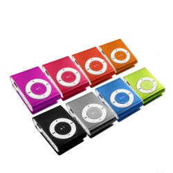 Mini MP3-Player inklusive Clip und Kopfhörer, Aluminium Gehäuse