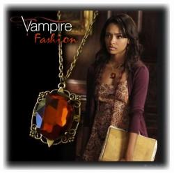 Bonnie's Anhänger, vergoldet und schattiert, Vampire Gothic Fashion, Diaries Punk-Style