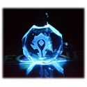 Horde or Alliance Coat of Arms - Crystal Glass Keychain with Color Change LED